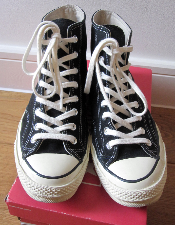 ed0efacce6a Classifieds  SOLD  Converse   First String 1970 s Chuck Taylor All Star Hi  (Black) UK 8.5